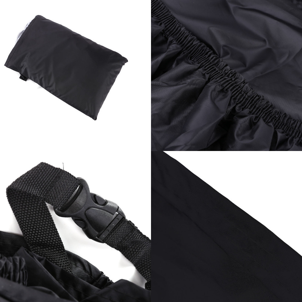 Image 2 - Black Motorcycle Cover For Honda Shadow ACE Aero Sabre Spirit VLX 600 750 1100 / Harley Softail Custom FXSTC Fatboy FLSTFcover shieldcover rabbitcover black -