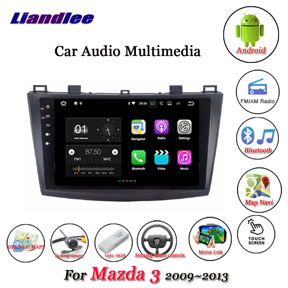 Liandlee Car Android System For Mazda 3 BL 2009~2013 Stereo Radio Video Wifi BT GPS Map Navi Navigation Multimedia No DVD Player цена