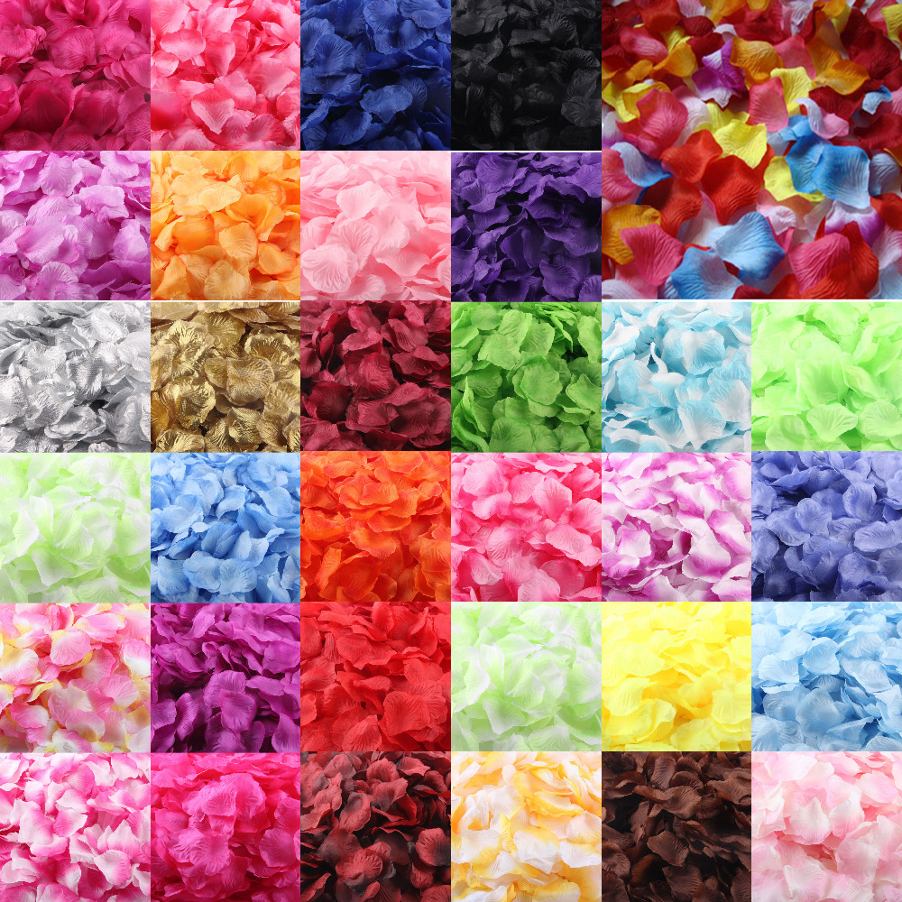 1000pcs Silk Rose Petals Artificial Flower Wedding Favor Bridal Shower Aisle Vase Decor Confetti Sep13
