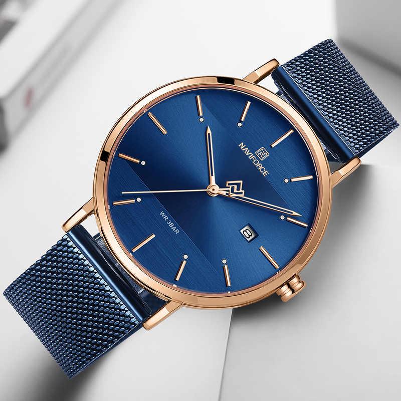 NAVIFORCE hommes montre haut marque Simple affaires hommes montres acier inoxydable étanche Quartz montre-bracelet hommes Relogio Masculino