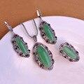 Blucome big stone pingente marca colar brincos anel conjuntos de jóias turca longo pendients max brincos anel colar das mulheres do vintage