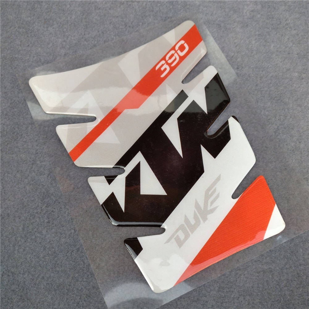 Motorcycle 3D Resin High Quality Raised Fuel Tank Pad Protector Decal <font><b>Sticker</b></font> For KTM 390 <font><b>DUKE</b></font> Universal Case Tank Cap Cover image