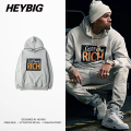 Sorry we're rich Hooded Sweatshirt 2016 HEYBIG new clothing Kanye fleece Autumn Tracksuit Youth Fashion Funny Hood Asian Size