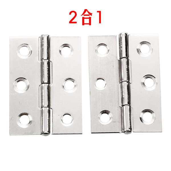 2pcs Stainless Steel 2 Inch 4.4x3.1cm Cabinet Door Hinges Hardware Best Selling 2pcs set stainless steel 90 degree self closing cabinet closet door hinges home roomfurniture hardware accessories supply