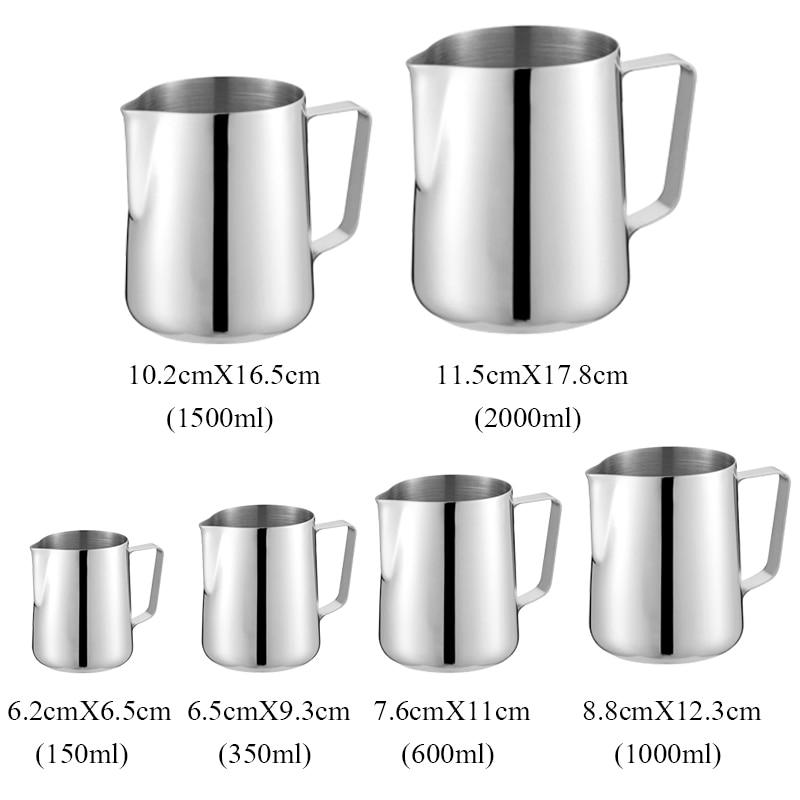 Brocca da caff/è per caff/è espresso 600ml Tazza da caff/è in acciaio inox Tazza da latte Brocca da caff/è con coperchio per caff/è Latte Art Coffee Tools