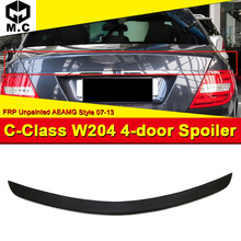 For Mercedes MB W204 C-Class High Kick Trunk Spoiler Wing FRP Unpainted Add on Style C63 Look C180 C200 C250 C300 07-13