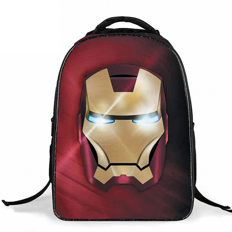 New Style Waterproof Iron Man Backpack Cool Cartoon Kids Boys School Bags Durable Avengers Double-shoulder Bag For Children hot 3d stereo children s boy spider man cute new school bag boys backpack kids children cartoon school bags backpacks baby