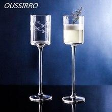 Janpan Hand Carvel шампанское флейты серийный бессвинцовое стекло роскошный дизайн винный Коктейль стекло Кубок день рождения Weddign подарки