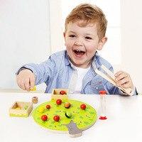 1 Set Éducatifs Pour Enfants En Bois de Mains Clip Fruits Jouets Intelligence Jigsaw Puzzles Bébé Enfants Apprentissage Jeux Cadeaux