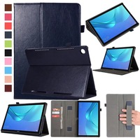 For Huawei M5 10 8 Case Flip PU Leather Case Cover With Stand Function Sleep Wake