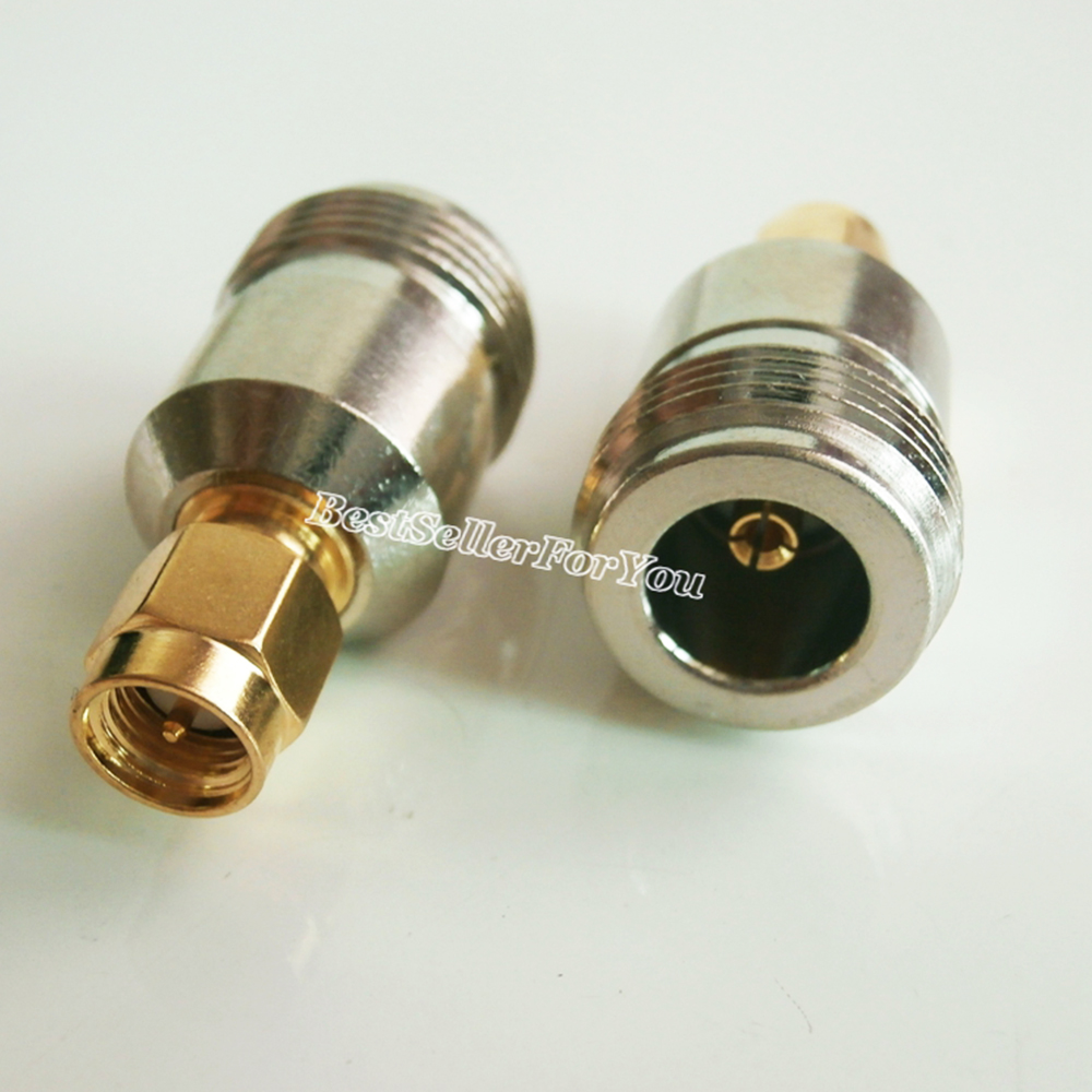 1Pcs SMA Male Plug TO N Female Jack RF Coaxial Adapter Connector For Antenna Router