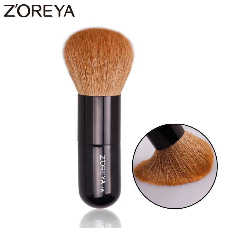 Zoreya Brand 1pcs Goat Hair Professional Makeup Brush Mulit-Function Powder Brush Women Beauty Cosmetic Portable Make Up Tool h01 professional makeup brushes squirrel hair sokouhou goat hair powder brush walnut wood handle cosmetic tools make up brush