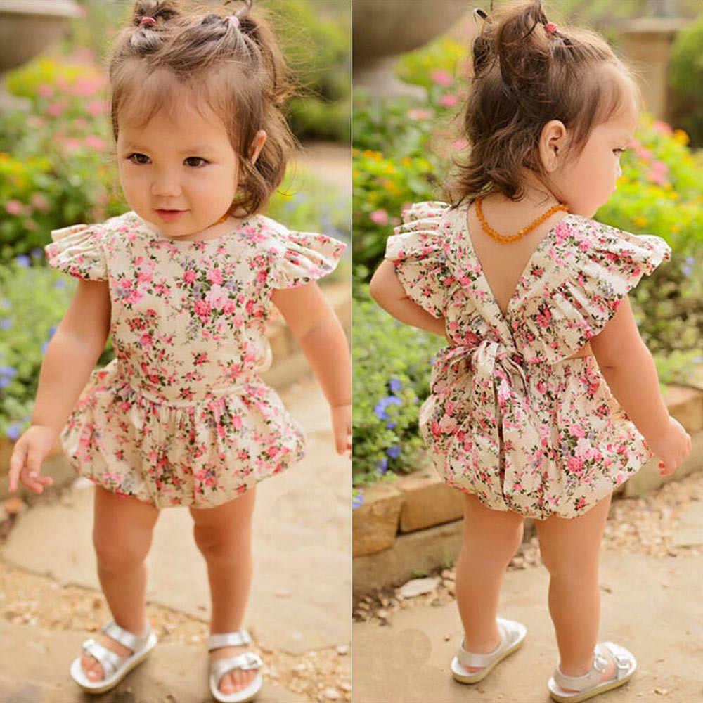 Bebê menina macacão flor verão meninas roupas roupas bebes bebê recém-nascido roupas bonito do bebê macacões infantis
