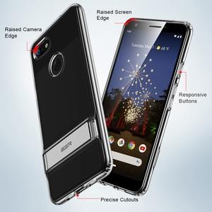 Image 4 - ESR Metal Kickstand Case for Google Pixel 3a 3a XL Business Cover Shockproof Flexible TPU Phone Case for Google Pixel 3 3XL 4 XL