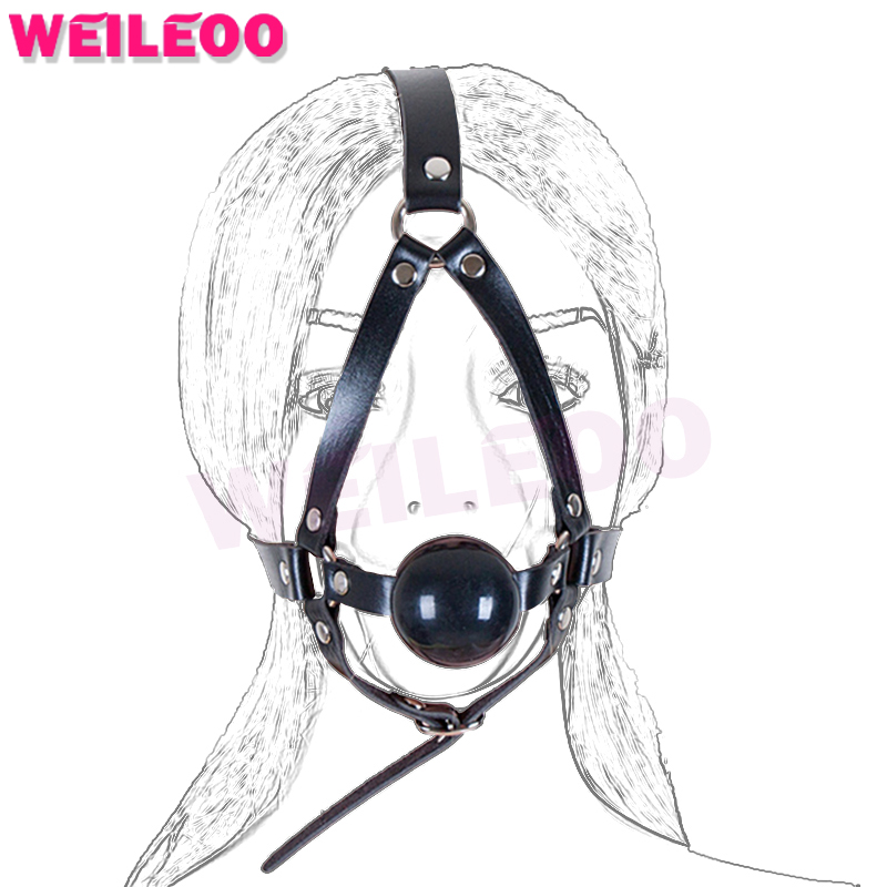 Buy harness 48mm open mouth gag ball adult sex toys bdsm bondage set fetish slave bdsm sex toys couples adult games