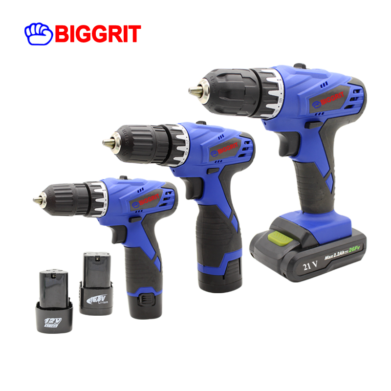 BIGGRIT 12V power tools electric Drill Cordless Drill DC Lithium-Ion Battery 3/8 Inch 2 Speed Mini Screwdriver Wireless Power