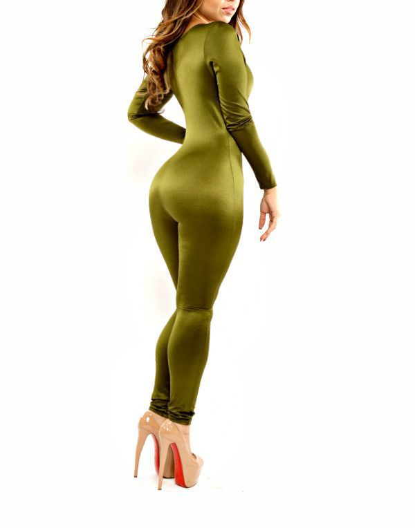 a451833166c New Women Fashion Sexy Trendy Camo Deep V Long Sleeves Celeb Inspired  Jumpsuit Bodysuit Bandage Clubwear on Aliexpress.com