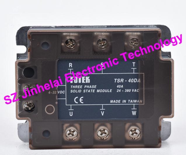 FOTEK 3-Phase Solid state module TSR-40DA, TSR-40DA-H Authentic original 40A new and original fotek 3 phase solid state relay tsr 40da 3 phase solid state module 40a