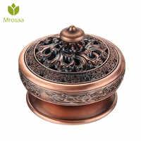 Mrosaa Incense Burners Alloy Tibetan Lotus Buddhist incense Holder Tea Brazier Sandalwood Metal Craft Home Decor Ornaments