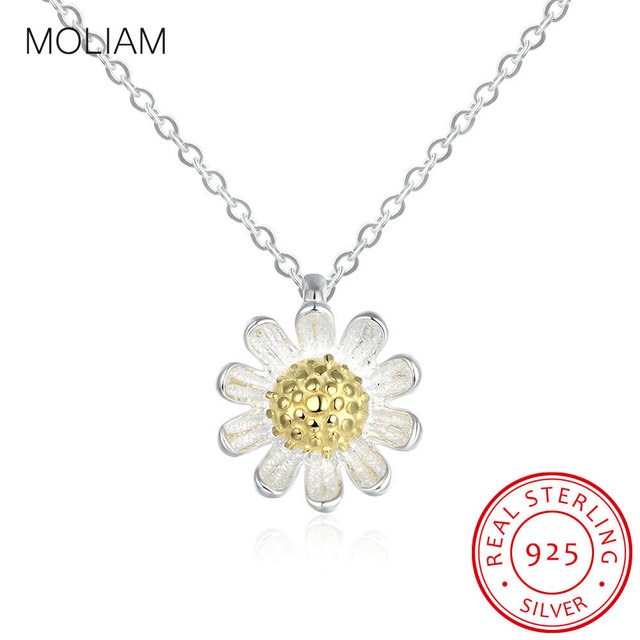 Moliam real 925 sterling silver necklace for women fashion trendy moliam real 925 sterling silver necklace for women fashion trendy sunflower pendant necklace jewelry accessorise gift aloadofball Gallery