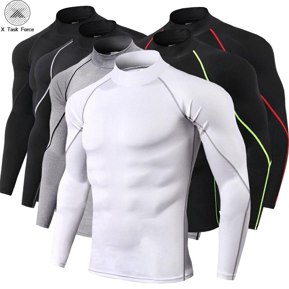 New Quick Dry Running   Shirt   Men Bodybuilding Sport   T  -  shirt   Long Sleeve Compression Top Gym   t     Shirt   Men Fitness Tight Rashgard