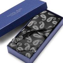 купить New Design Slim Tie Set for Men Skinny Tie 7.5cm Handkerchief cufflinks Necktie Man Corbatas Hombre Wedding Tie set по цене 298.95 рублей