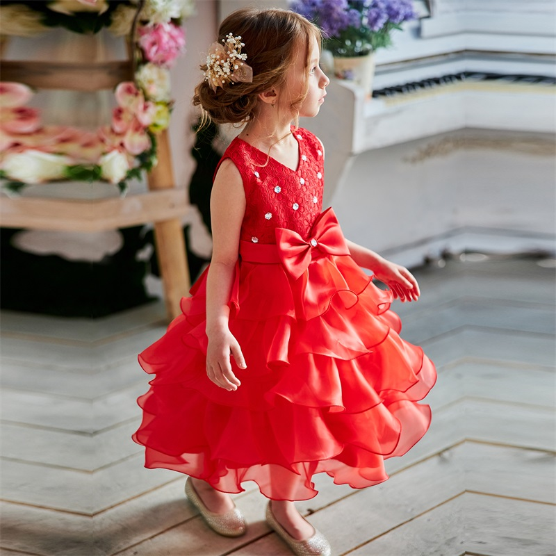 Baby Girl Frocks Dress For Girls Flower Wedding Party Dresses Toddler Kids Princess Dress Children Girl Clothing Graduation Gown 3