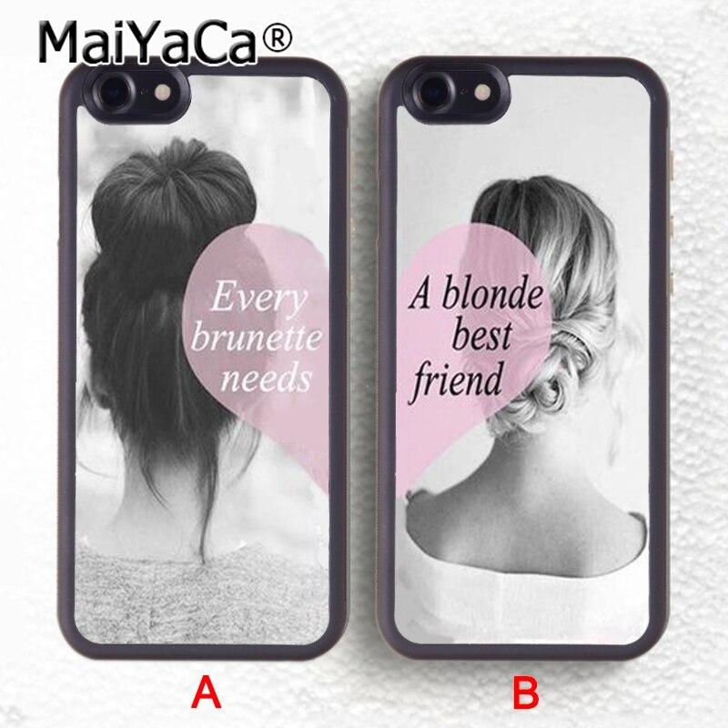 MaiYaCa 2pcs/lot Besties BFF Best Friends Girly Heart