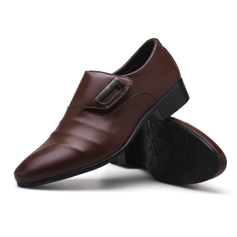 De Negócios marrom Tendência Grande Sapatos Masculinos Vestido Preto Sapatos Respirável Apontou Casuais Tamanho qp5dB