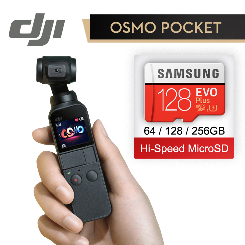 DJI Osmo Pocket 3 axis Stabilized Handheld Camera With 4K 60fps Video Mechanical Stabilization Intelligent Shooting In Stock