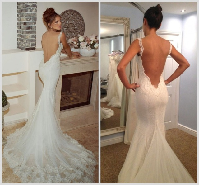 Low back wedding dresses galia lahav 2015 sexy backless for Spaghetti strap low back wedding dress