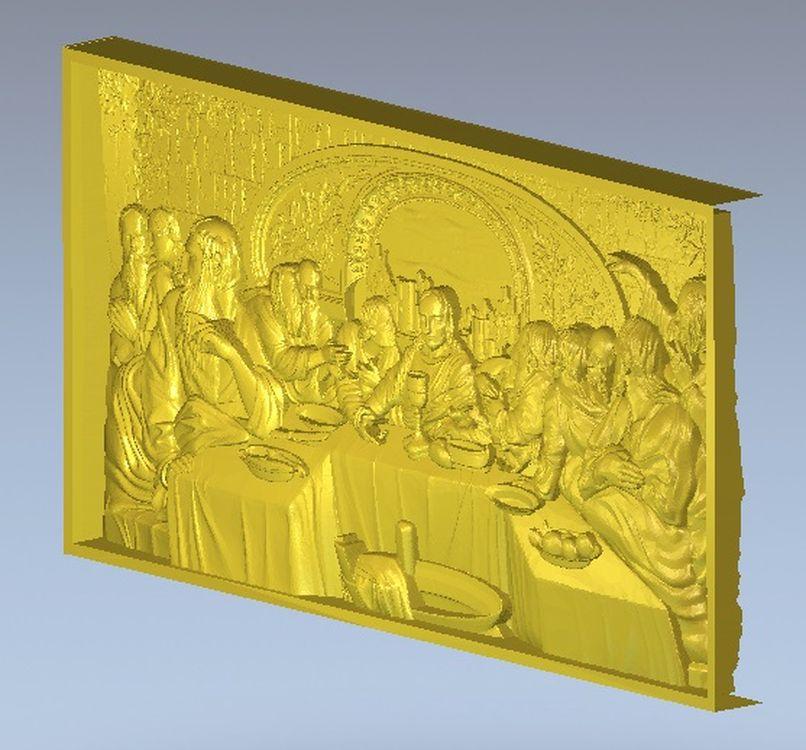 Тайный ужин, модели в стиле «христианский Иисус», 3d STL, используются для ЧПУ artcam, 3d рельефа, модель 17,3 Мб