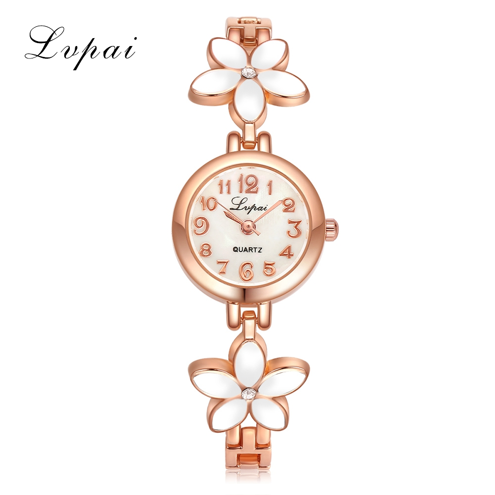 2017 Lvpai Flower Rose Gold Bracelet Watches Women Fashion Casual Quartz Watch Rhinestone Wristwatches Girls Bangle Women Watch 2017 lvpai flower rose gold bracelet watches women fashion casual quartz watch rhinestone wristwatches girls bangle women watch