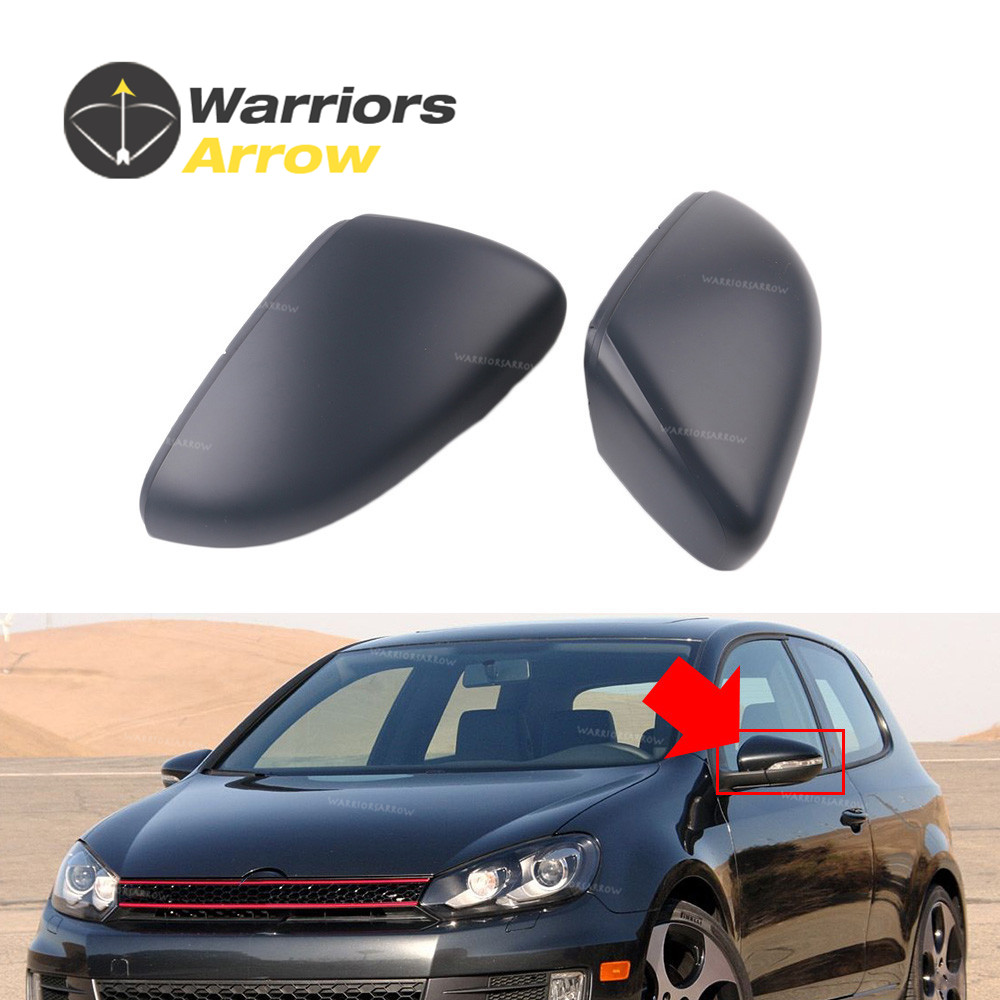5K0857537 5K0857538 For VW <font><b>Golf</b></font> 6 MK6 Touran 2010 2012 2013 Primed Pair Front L <font><b>R</b></font> Rearview Wing Mirror Cap Cover image