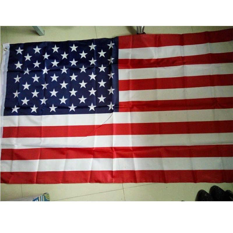"150*90 cm מאופק דק כחול קו פסים דגלי ארה""ב לולאות, המשטרה, שוטרים דגלים, שחור, לבן, כחול דגלי זרוק חינם"