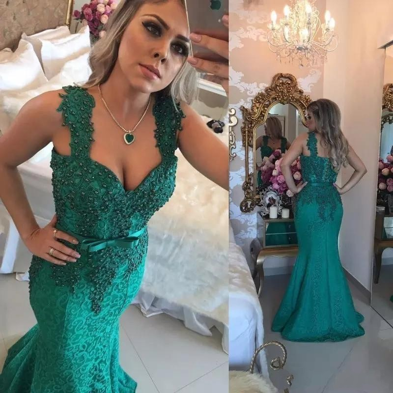 Evening     Dresses   Vestido Longo Mermaid   Evening   Gowns Appliques Robe De Soiree   Evening   Gown Beading   Evening     Dress   abiye 2019