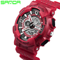 SANDA Men Watch G Style Male Watch LED Digital Watch Dual Display Fashion Wristwatch Sports Watch Relogio Masculino
