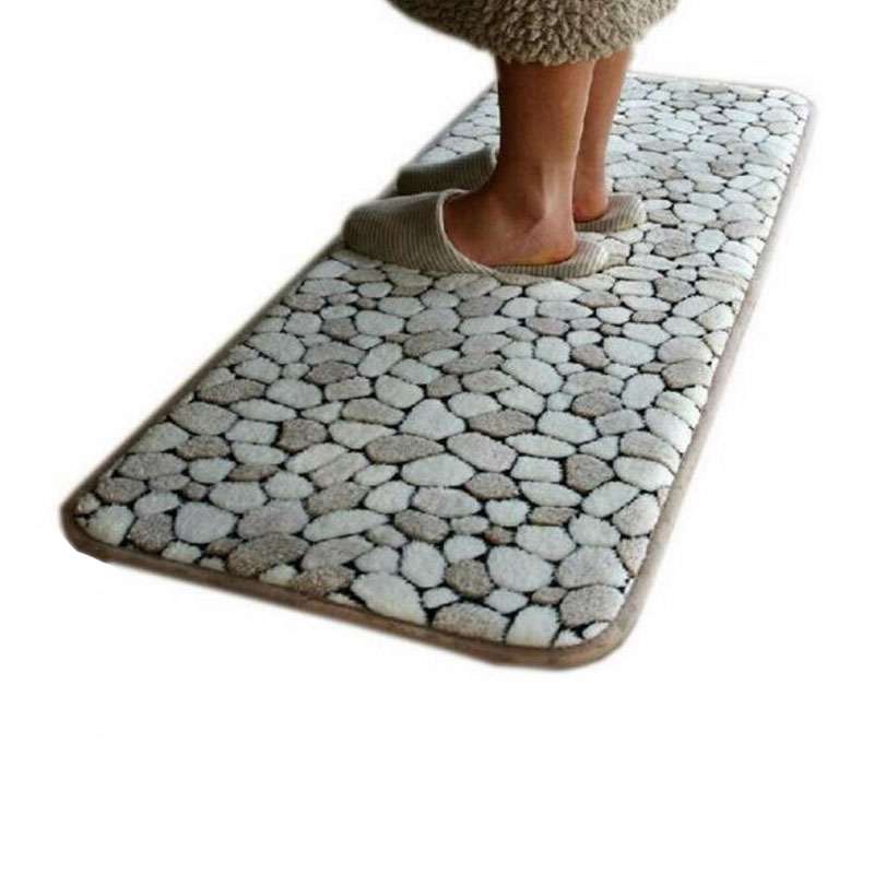 40x60cm Pebbles design soft door mat for living dining kitchen or any room