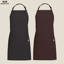 G.a HOMEFAVOR Kitchen Apron 100% Cotton Hairdresser Chef Cooking Aprons For Women Men With Pockets And Adjustable Neck Straps