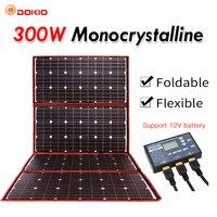 Dokio 300 W 12 V Гибкая солнечная панель портативная наружная складная солнечная панель для кемпинга/лодки/RV/Путешествия/дома/автомобиля комплек