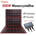 Dokio 300 W 12 V Pannello Solare Flessibile Esterno Portatile Pieghevole Pannello Solare Per Il Campeggio/Barca/RV/ viaggi/Home/Auto kit di pannelli Solari
