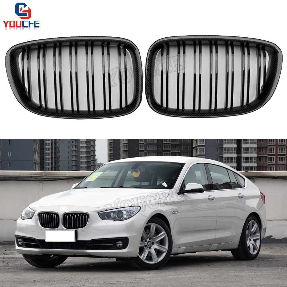 5 GT F07 Carbon Fiber Front Bumper Grille Mesh for BMW 5 Series 2010 - present Fastback 535i 550i CF Front Grill glc coupe решетка радиатора amg