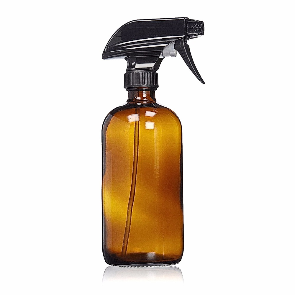 500ml Amber Glass Spray Bottle Empty Trigger Mist Stream Sprayer Bottles Storage Cap For Essential Oil Cleaning Products 16 Oz