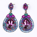 brincos Fashion Jewelry high quality crystal stud earings  for women austria crystal Xmas