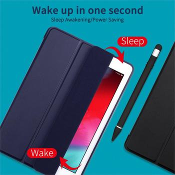 For iPad Air Case Air 2 Air 1 Funda Silicone Soft Back Slim PU Leather for Apple iPad Air 1 2 5 6 Case TriFold Stand Smart Cover
