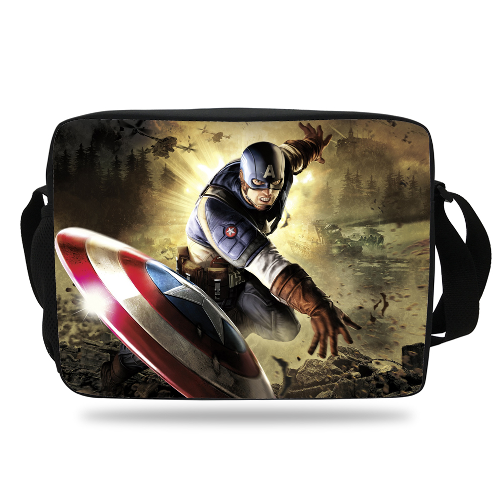 40efcf1ce0 Hot Sale Captain America School Messenger Bag For Kids Shoulder Messenger  Bag For Children Boys Girls