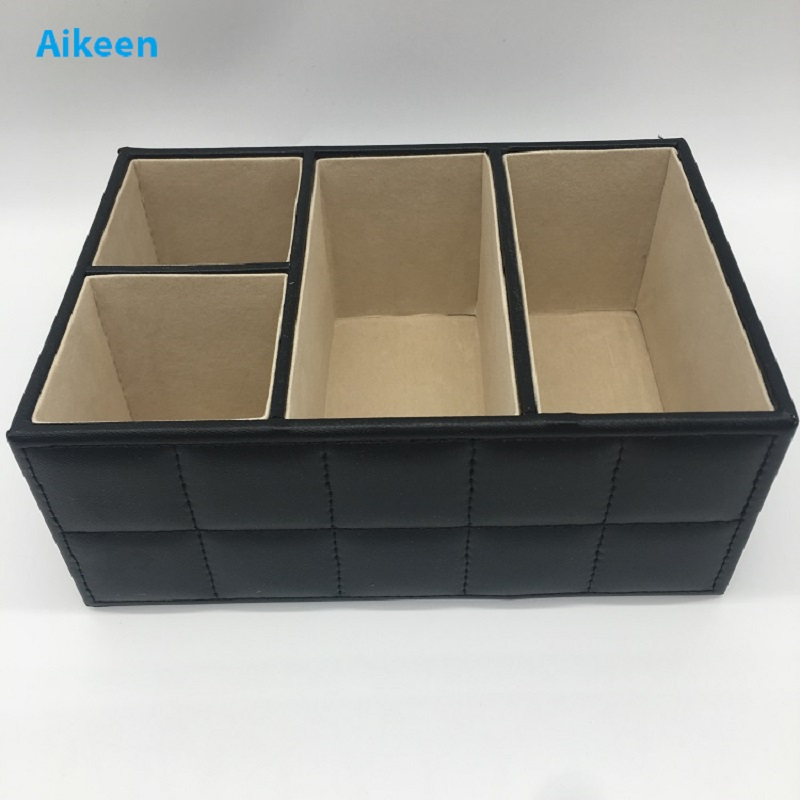 Brand New PU Leather Office Desk Organizer Case Home Desk Accessory Collection Case Pen Pencil Cosmetic Storage Box ...
