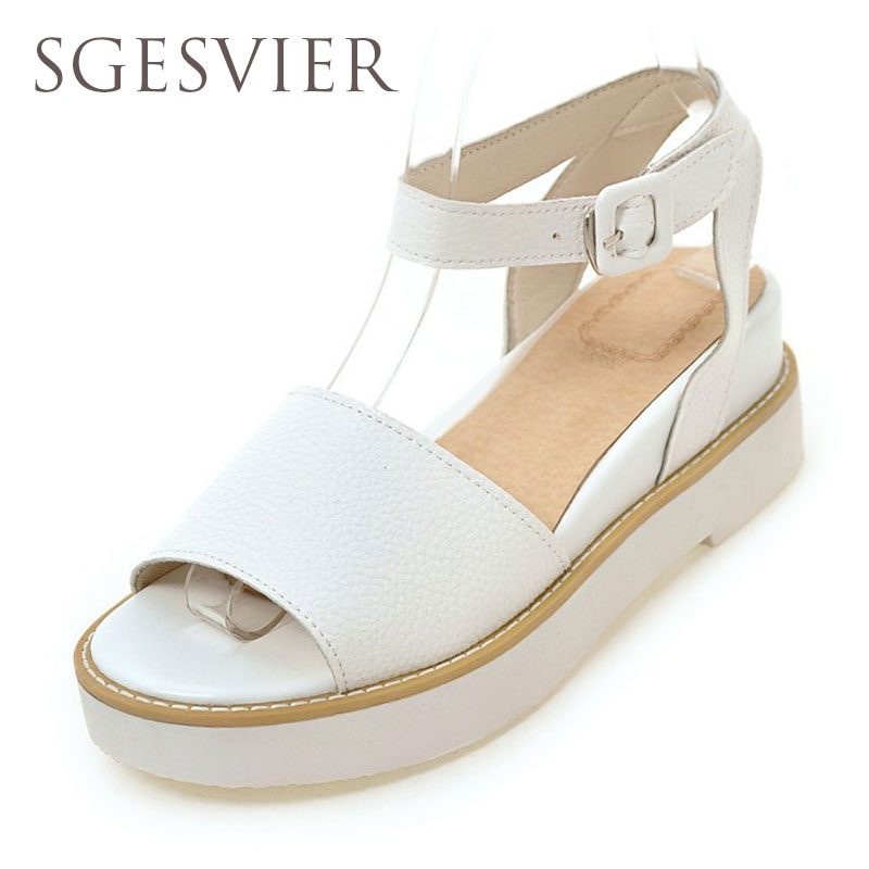 SGESVIER 2017 Summer shoes women Fretwork Carving Swing Wedges Platform Women Sandals Female gladiator sandals women Shoes G889 phyanic 2017 gladiator sandals gold silver shoes woman summer platform wedges glitters creepers casual women shoes phy3323