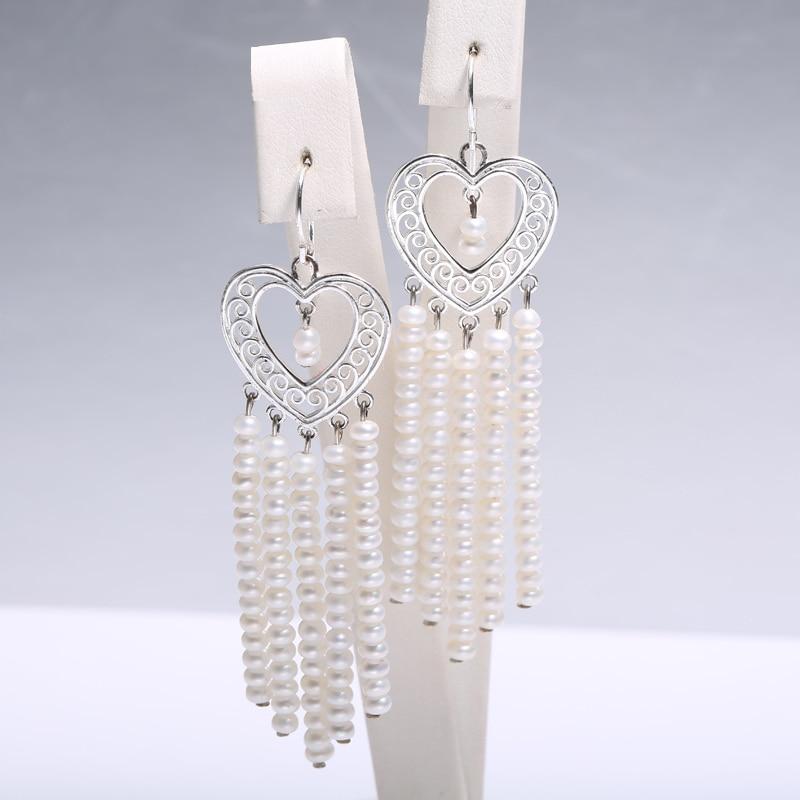 Long Tassel Earrings Heart Eardrop, 3-3. 5 mm Pearl Earrings, Birthday Present for Women летние шины yokohama 185 65 r14 86t bluearth ae 01