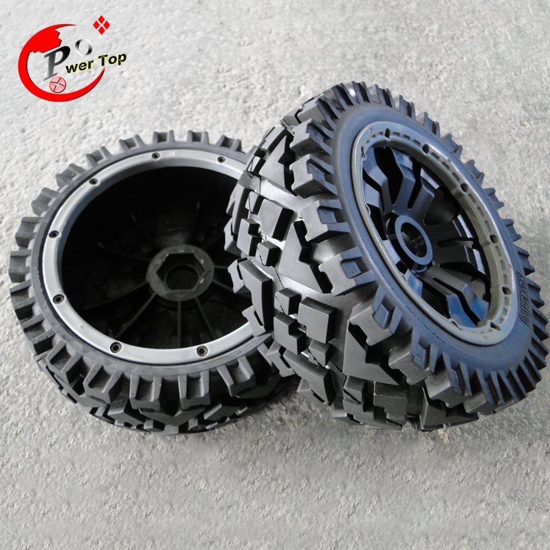 King Motor Baja All-terrian front completed set with  posion rim for HPI BAJA 5B Parts Rovan king motor baja front hydraulic brake system for hpi baja 5b parts rovan free shipping